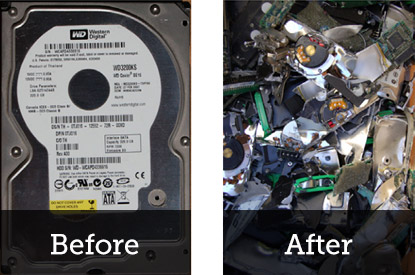 Hard Drives - Before and After